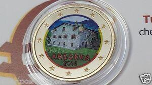 1 euro 2014 Andorra color Andorre андорра farbe coloré colorful bunt kleur