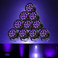 10Pcs UV 12LED Stage Black Light Lighting DMX512 Strobe Party Club DJ Disco Lamp