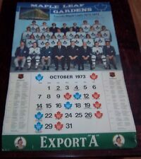 "Export ""A"" Toronto Maple Leaf Gardens 1972-73  Calendar NHL Hockey Team Canada"