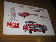 1960 Print Ad The 1961 Dodge Lancer Station Wagon & 2-Door Red Cars