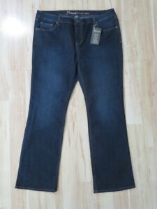 New Women's Natural Reflections Jeans Dark Blue Bootcut Pants Mid Rise Size 14