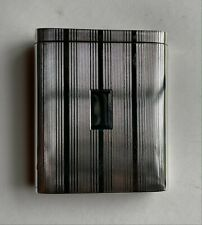 RARE NAPIER STERLING Cigarette Case, Spring Mechanism