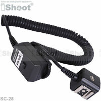 2.5m Flash Off-Camera Hot Shoe Mount SYNC I-TTL Cord/Cable for Nikon SC-28/SC-29
