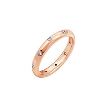 Rose Gold Plated Sterling Silver Swarovski Zirconia Multi-stone Ring Size L 6