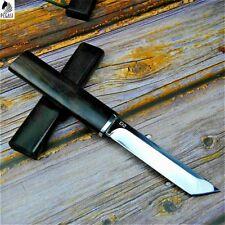 Tanto Knife Mini Samurai Japanese Hunting Tactical Combat Wood Handle D2 Steel S