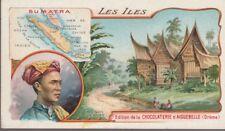 chromo chocolat d' aiguebelle / les iles. sumatra
