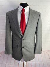 Bill Blass Gray Plaid Suit 38R 30X28.5