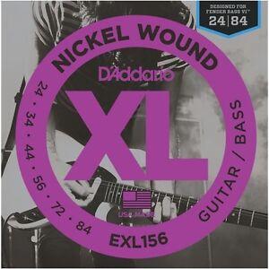 D'Addario EXL156 Nickel Wound Electric Or Fender Bass VI Guitar Strings, 24-84