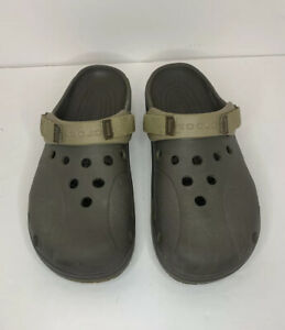 Crocs Sport Clog Green Unisex Men Size 13 Adjustable Strap