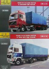 2 Heller 1:32nd scale Volvo F12-20 Globetrotter Trucks & Trailers 81702 & 81703