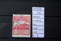 STAMPS SAN MARINO ITALY USED USATI N. 36 (A37005)