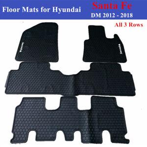 Heavy Duty Car Floor Mats Tailored for Hyundai Santa Fe 7 DM Series 2012 - 2018