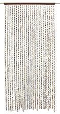 Türvorhang Bambus Fadenvorhang Insektenschutz Holz Perlen Deko Raumteiler