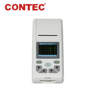 CONTEC ECG90A Digital 3/6/12-Lead ECG EKG Machine Portable Electrocardiograph+SW
