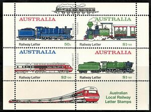 Australia 1984 Thirlmere Railway Cinderella Sheetlet MNH