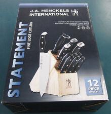 J.A. Henckels International Statement 12-pc Knife Block Set 35309-000 NEW