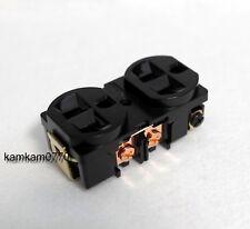 Black, Copper For Audio Hi Fi 20A 125V AC Duplex Receptacles, Wall Outlets
