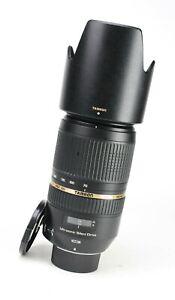 Tamron 70-300mm F4-5.6 SP Di VC USD Autofocus Lens - Nikon + F/R Caps + Hood EXC