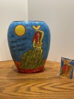 Ceramic Woman Of Valor vase by Outi Prosperity tree Biblical admiration of women