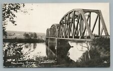 Railroad Bridge DOAKTOWN New Brunswick RPPC Rare Antique Photo 1910s