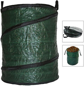 Garden Waste Bag Large Reusable Leaf Collection Leaves Collapsible Pop-Up 90L