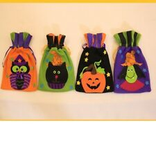 Cartoon Halloween Drawstring Candy Bag Gift Storage Pouch Party Decor Ornaments
