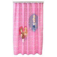 Disney Princess Microfiber Shower Curtain Timeless Elegance Pink Girl Bathroom