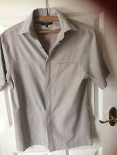 Next shirt,short sleeves,Size S,Grey,beige, hidden buttons,pocket, machine wash