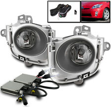 2010 2011 TOYOTA PRIUS BUMPER CLEAR FOG LIGHTS LAMP CHROME+HARNESS+HID 8000K SET