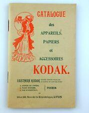 Catalogue Appareils Accessoires KODAK Paris, um 1910 Katalog Camera appareil