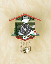 Orologio a pendolo Black Forest nera cucù Stella alpina fatto germania 62PQ