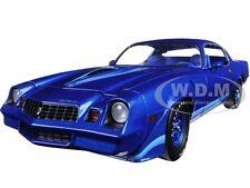 1979 CHEVROLET CAMARO Z/28 BLUE METALLIC W/ BLUE STRIPES 1/18 GREENLIGHT 12904