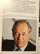 Alfred Heineken  +  Bierbrauer original signiert