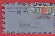 25cent airmail rate to ** AUSTRALIA ** 1947 ** Peace War Issue Canada cover