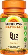 Sundown Naturals Vitamin B12 Tablets, 1000 mcg, 120 Count
