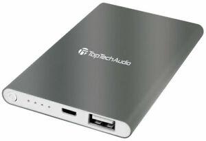 Portable Slim Backup Charger Power Bank/Phones/Tablets/USB LED Indicator 6000mAh