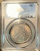 1823 Capped Bust Silver Half Dollar PCGS Genuine AU About Uncirculated Details