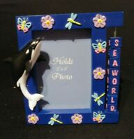 Seaworld Shamu souvenir picture frame 3 x 3 1/2 new