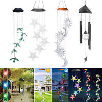 Color-Changing LED Solar Power Wind Chime Outdoor Garden Hanging Lights Lamp