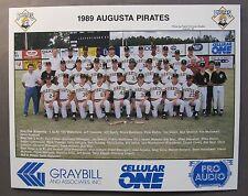 original 1989 AUGUSTA PIRATES Team Photo. SAL minor league baseball