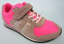 Baskets décontractées rose en cuir pour fille de 2 à 16 ans