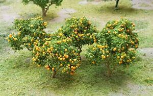 MP SCENERY 6 Orange Trees N Gauge Fruit Trees Railroad & Farm Layout Handmade
