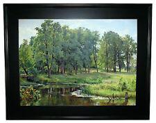 Ivan Shishkin In The Park 1897 -Black Gallery Framed Canvas Print Repro 25 x 32