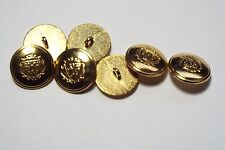 8pc 15mm Brass Gold German Style Metal Military Blazer Coat Cardigan Button 2866