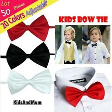 Wholesale (Lot 50 Piece) Students Children Bow Tie Solid Accessories Neckwear