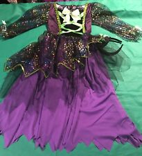WITCH COSTUME SIZE 6-7 PURPLE AND BLACK