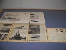 VINTAGE..VOUGHT F7U CUTLASS HISTORY..HISTORY/DETAILS/PHOTOS/3-VIEWS.RARE! (750L)