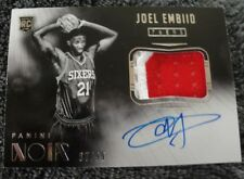 JOEL EMBIID #87/99 2014-15 NOIR ON CARD AUTO PATCH THE PROCESS 76ERS RC