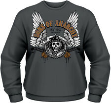 Sons Of Anarchy Winged Reaper Sweater Pullover Men Herren S PLASTIC HEAD