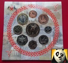 2003 ISLE OF MAN IOM MANX Decimal Set 9 Coin Collection £1 £2 £5 Patrick Hymn